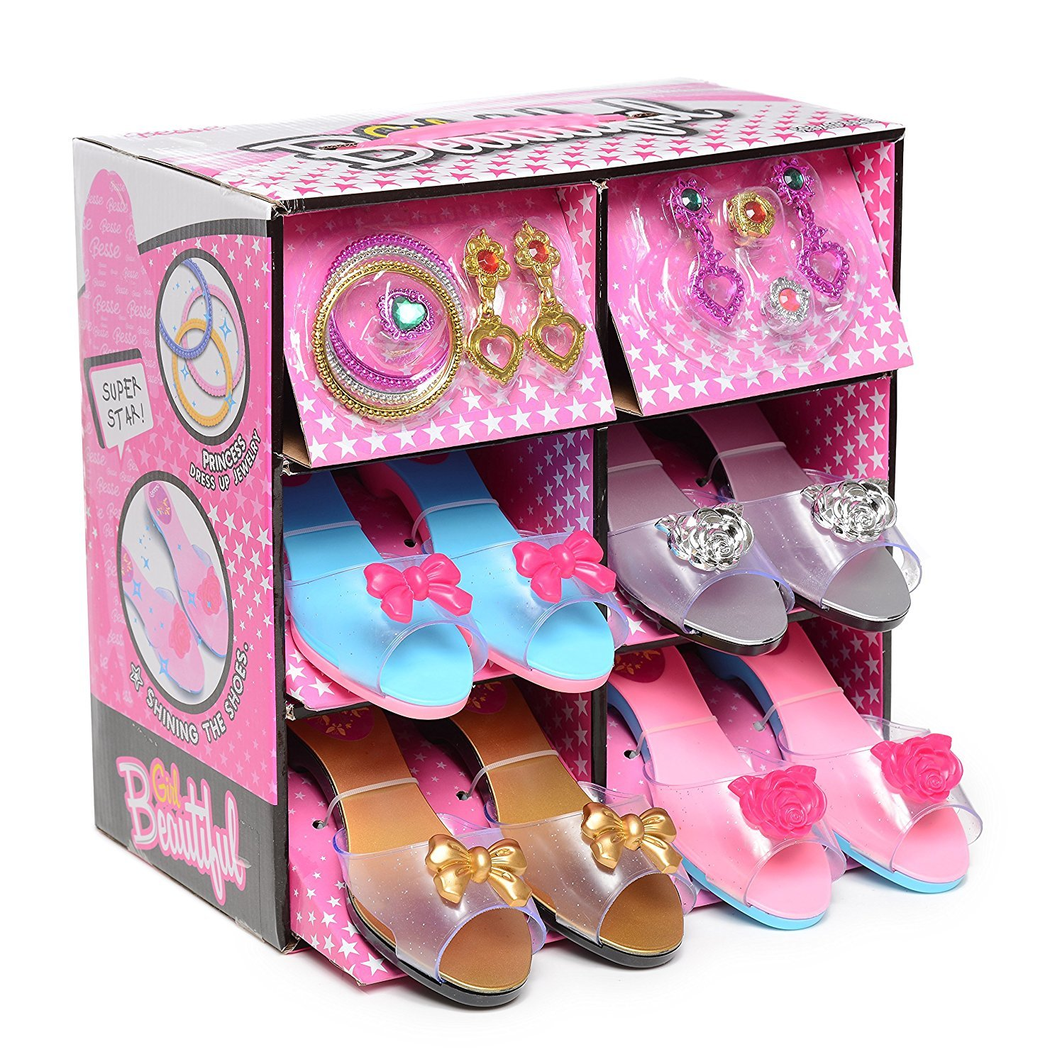 AWESOME CHOICE Princess Dress up and Role Play Shoe and Jewelry Boutique