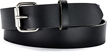 280214797c1 Naleeni Mens Black Leather Belt with Buckle Options. Made in USA 1.5 Inch  Wide