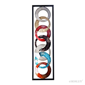 """Hosley Metal Wall Décor 35"""" High. Ideal Gift for Home, Weddings, Party, Spa, Meditation, Home Office, Dorm O4"""