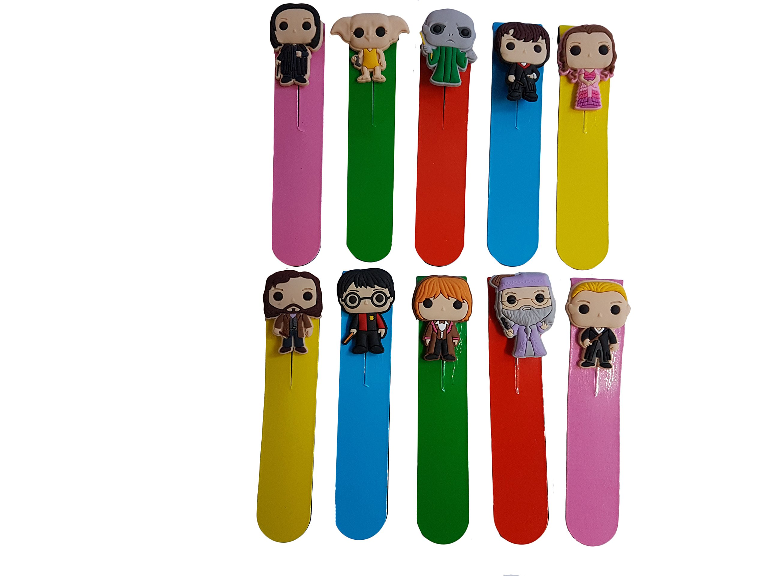AVIRGO 10 pcs Magnetic Bookmarks Page Markers Colorful Set # 454 - 16
