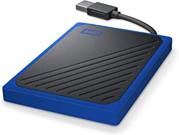 WD My Passport Go Cobalt 1TB USB 3.0 Wireless Portable Solid State Drive