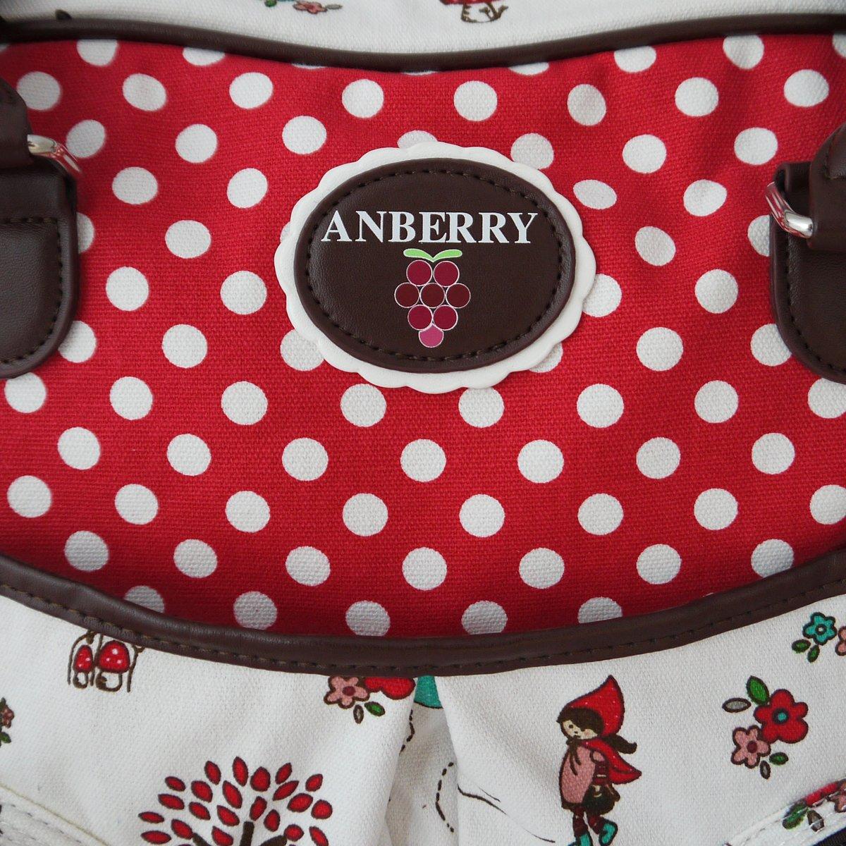 Rot Anberry Wickeltasche Rotk/äppchen gepunktet