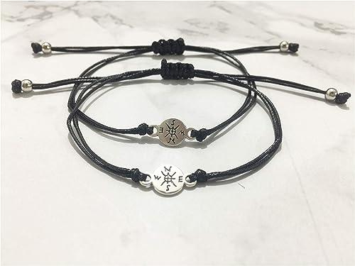 Grey Camle Friendship Bracelet for Best Friends Couple Family Adjustable Waterproof Handmade Cord Relationship Bracelets for 2
