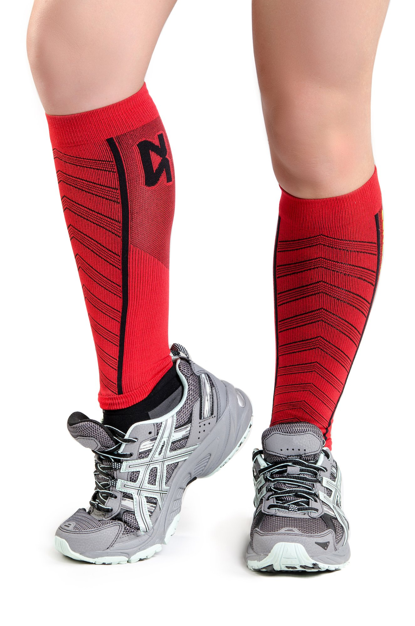 Zensah Featherweight Compression Sleeves Red, Small by Zensah