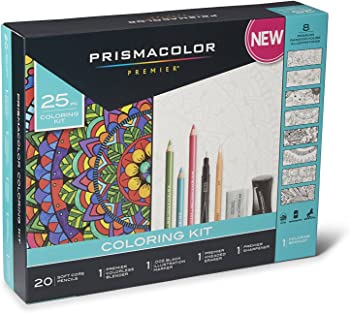 25-Pcs. Set Prismacolor Premier Adult Coloring Book Kit