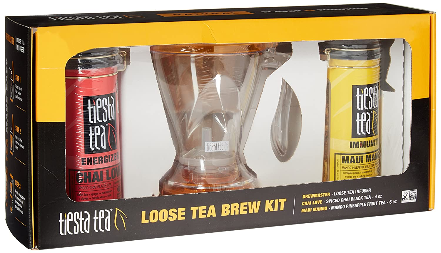 Microwave and Dishwasher Safe BREWMASTER BPA Free 16 Ounce Tea Steeper TEA INFUSER by TIESTA TEA