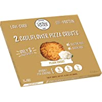Cali'flour Foods Gluten Free, Low Carb Cauliflower Plain Pizza Crusts - 1 Box - (2 Total Crusts Per Box)