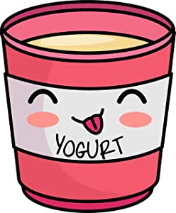 Amazon.com: Cute Kawaii Orange Yogurt Cup Emoji Cartoon ...