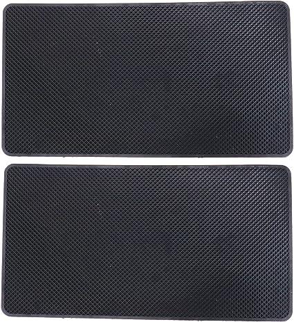 2x Schwarze Auto Silikonmatte 27 X 15 X 0 2 Cm Autohalterung Halter Gleitschutzmatte Baumarkt