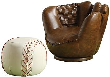 Great Crown Mark Baseball Glove Chair/Ottoman