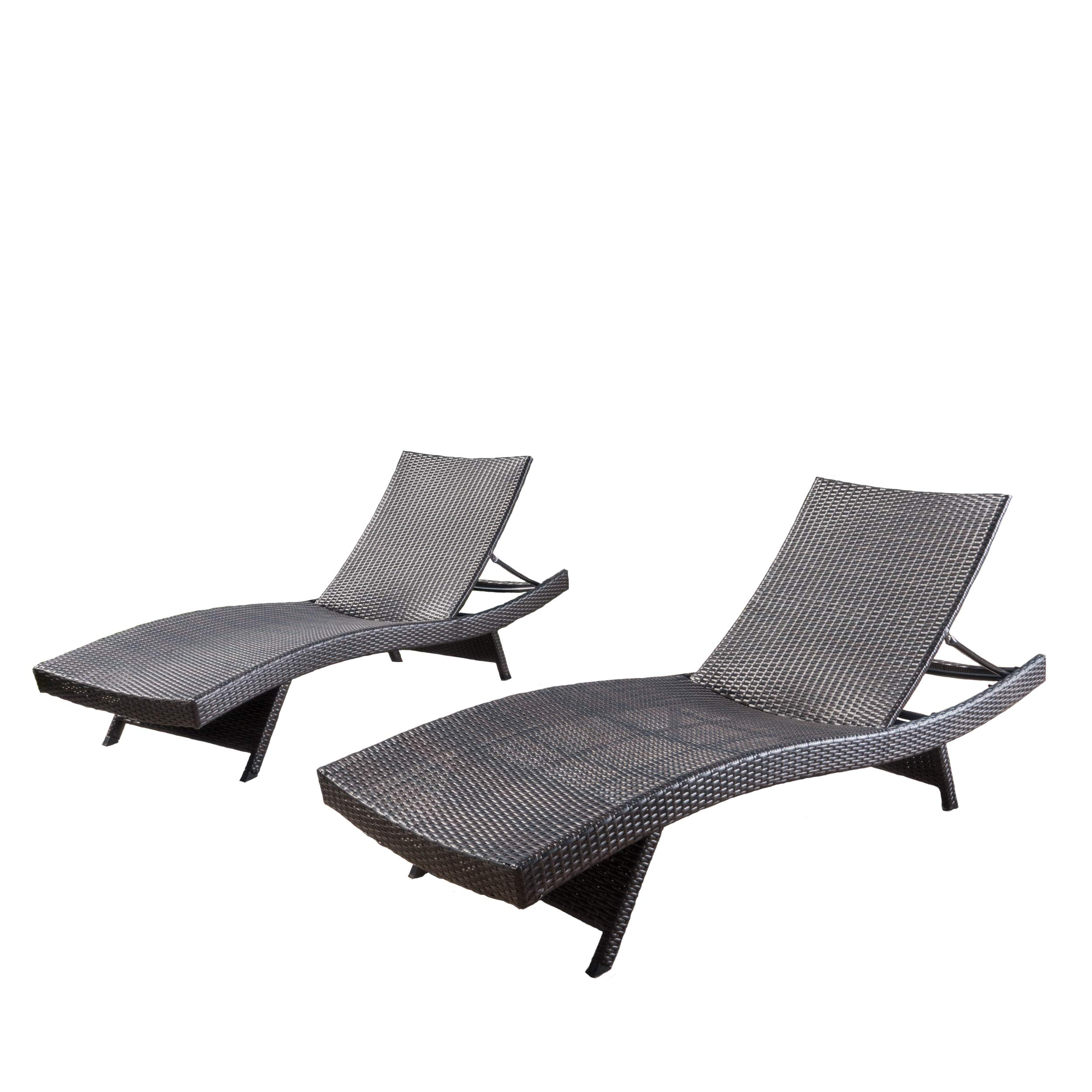 Christopher Knight Home 294919 Lakeport Outdoor Adjustable Chaise Lounge Chair (Set of 2) by Christopher Knight Home