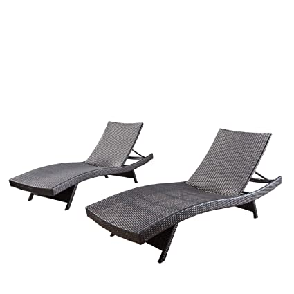 Chaise Lounge Outdoor.Lakeport Outdoor Adjustable Chaise Lounge Chair Set Of 2