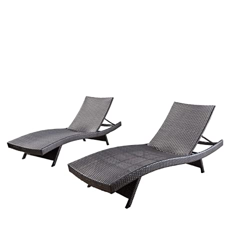 Admirable Christopher Knight Home 294919 Lakeport Outdoor Adjustable Chaise Lounge Chair Set Of 2 Inzonedesignstudio Interior Chair Design Inzonedesignstudiocom