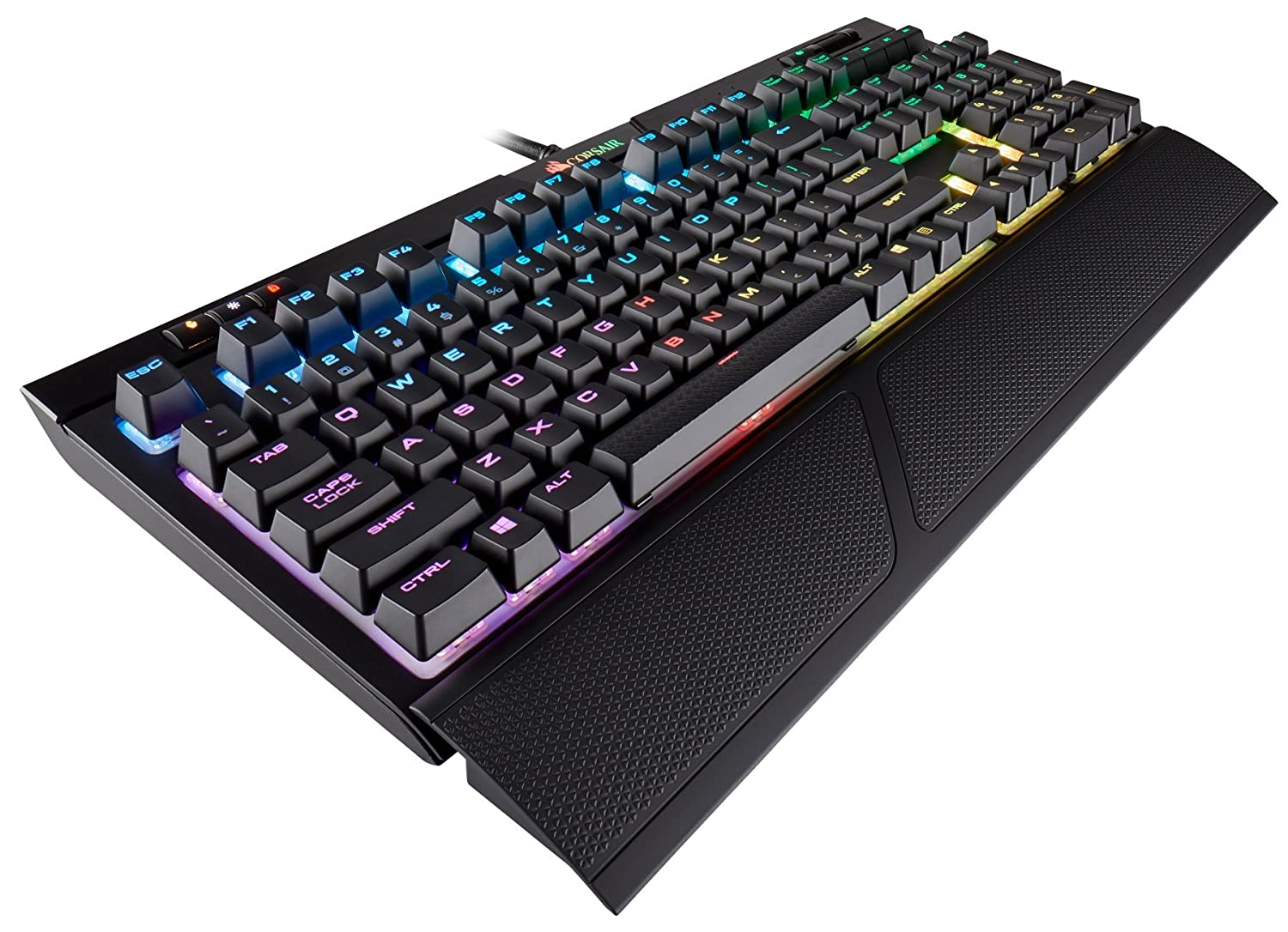 CORSAIR Strafe RGB MK.2 Mechanical Gaming Keyboard – USB Passthrough – Linear and Quiet – Cherry MX Red Switch – RGB LED Backlit