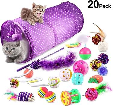 Yosemy Juguetes para Gatos Interactivos, Mascota Gato Captura Juguetes De Entrenamiento, 20 Piezas: Amazon.es: Productos para mascotas