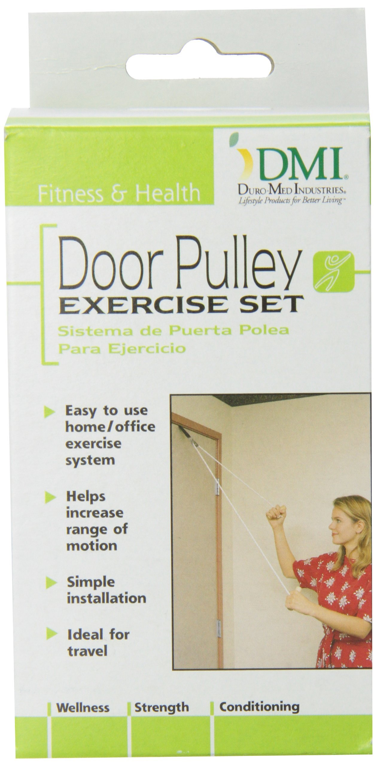 DMI Shoulder Pulley For Physical Therapy, Door Pulley Exerciser, White by Duro-Med (Image #2)