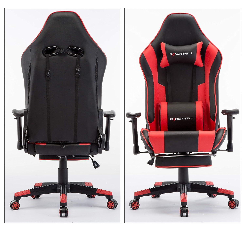 Super Dansitwell Gaming Chair Footrest Ergonomic Adjustable Squirreltailoven Fun Painted Chair Ideas Images Squirreltailovenorg