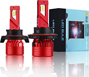 Alla Lighting Mini FL-BH H13 9008 LED Headlight Bulbs 12500 Lumens Newest High Power 90W Xtreme Super Bright 6000K Xenon White Conversion Kits, Dual High Low Beam Lights