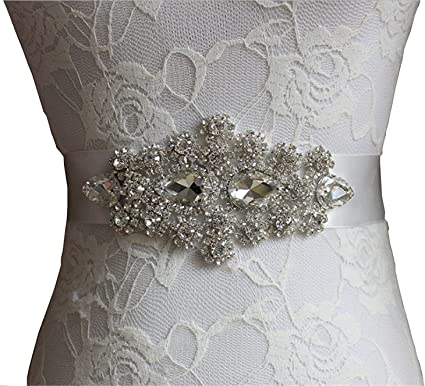 Doragrace Designer Women S Beaded Rhinestone Wedding Dress Sash