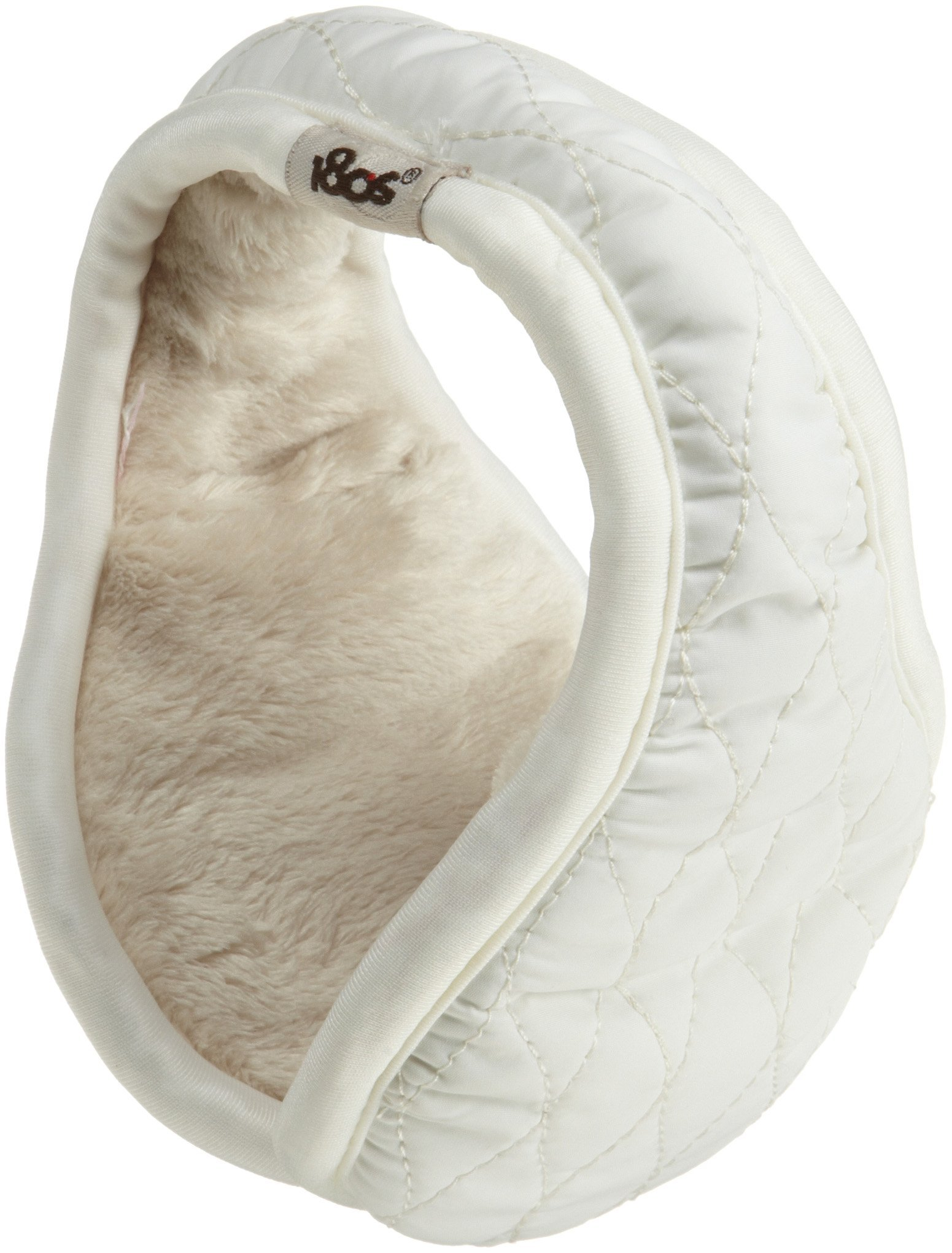180s Women's Aspen Puffy Quilt Extra Warm Adjustable Ear Warmer - Snow (One Size)