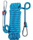 Yiapinn Outdoor Rock Climbing Rope Diameter 12mm Mountaineering High Strength Life-Saving Static Rope