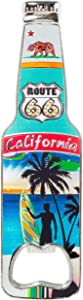 California Bottle Opener Heavy Duty Metal Souvenir Refrigerator Magnet (Route 66)