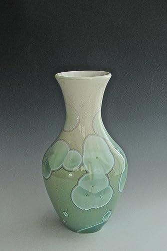 Amazon Handmade Ceramic Vase Crystalline Pottery Jade Green