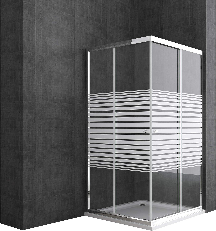 Sogood: Cabina de ducha de esquina Rav16K 70x100x190 Mampara de ...