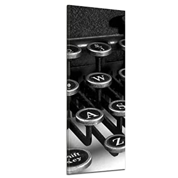 """Bilderdepot24 Cuadros en Lienzo """"Máquina de escribir"""" 40x120 cm - listo tensa,"""