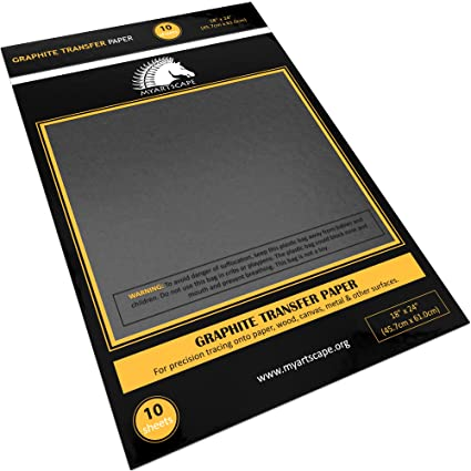 Amazoncom Graphite Transfer Paper 18 X 24 10 Sheets Waxed