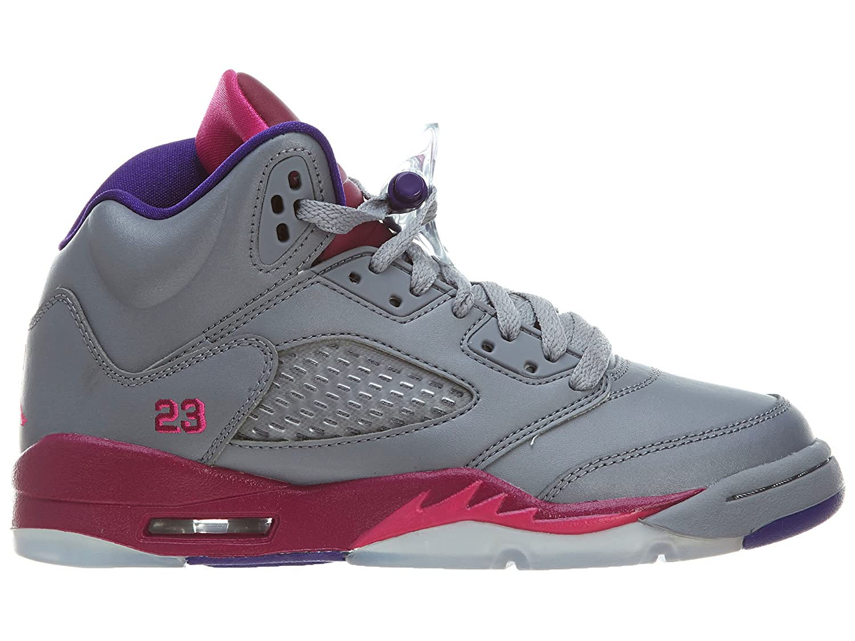 pretty nice 623f1 147b7 NIKE AIR JORDAN 5 retro (GS) Baskets Enfant 440892-009-36.5-4.5 Argent   Amazon.co.uk  Shoes   Bags