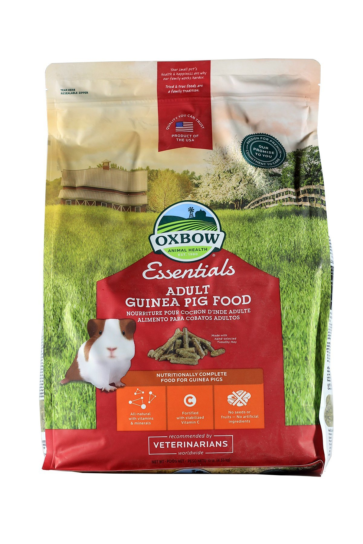 Oxbow Essentials Adult Guinea Pig (Timothy Based), 10-Pound Bag