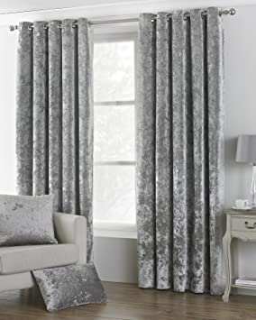 Riva Paoletti Verona Ringtop Eyelet Curtains Pair