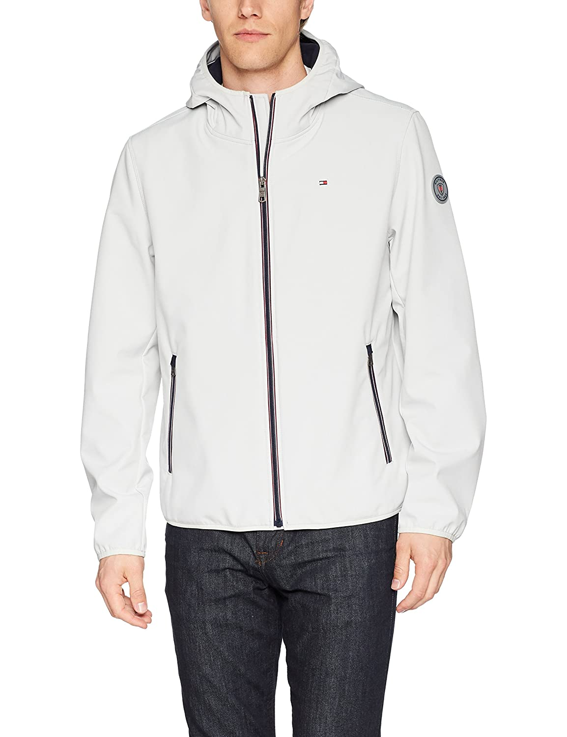3db6f9c0 Tommy Hilfiger Mens Hooded Performance Soft Shell Jacket Windbreaker  Jacket: Amazon.ca: Clothing & Accessories
