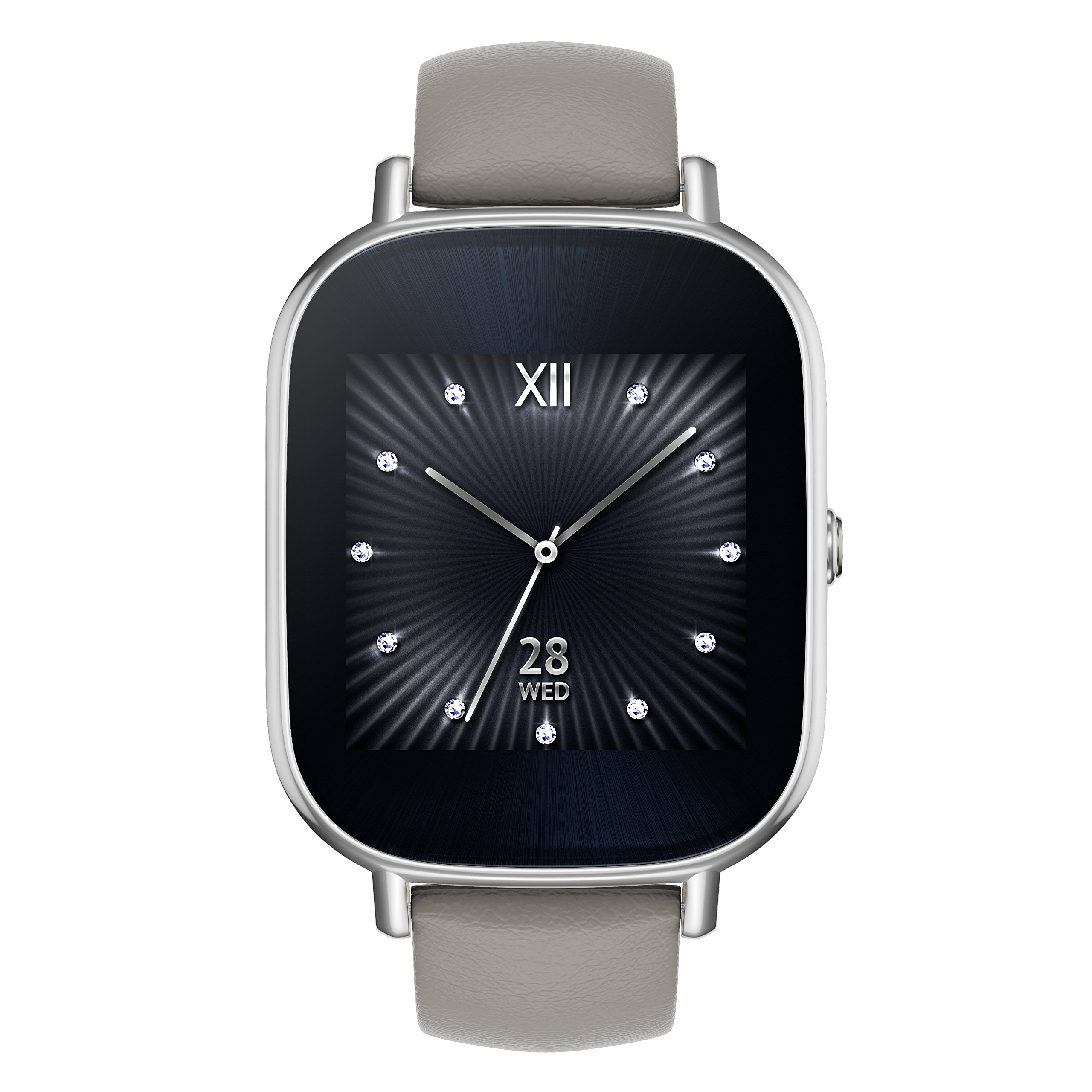 ویکالا · خرید  اصل اورجینال · خرید از آمازون · ASUS ZenWatch 2 Silver with Beige Leather Strap 37mm Smart Watch with Quick Charge Battery, 4GB Storage, 1.45-inch AMOLED Gorilla Glass 3 TouchScreen, IP67 Water Resistant (International Version) wekala · ویکالا