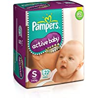 Pampers Active Baby Small Size Diapers (22 Count)