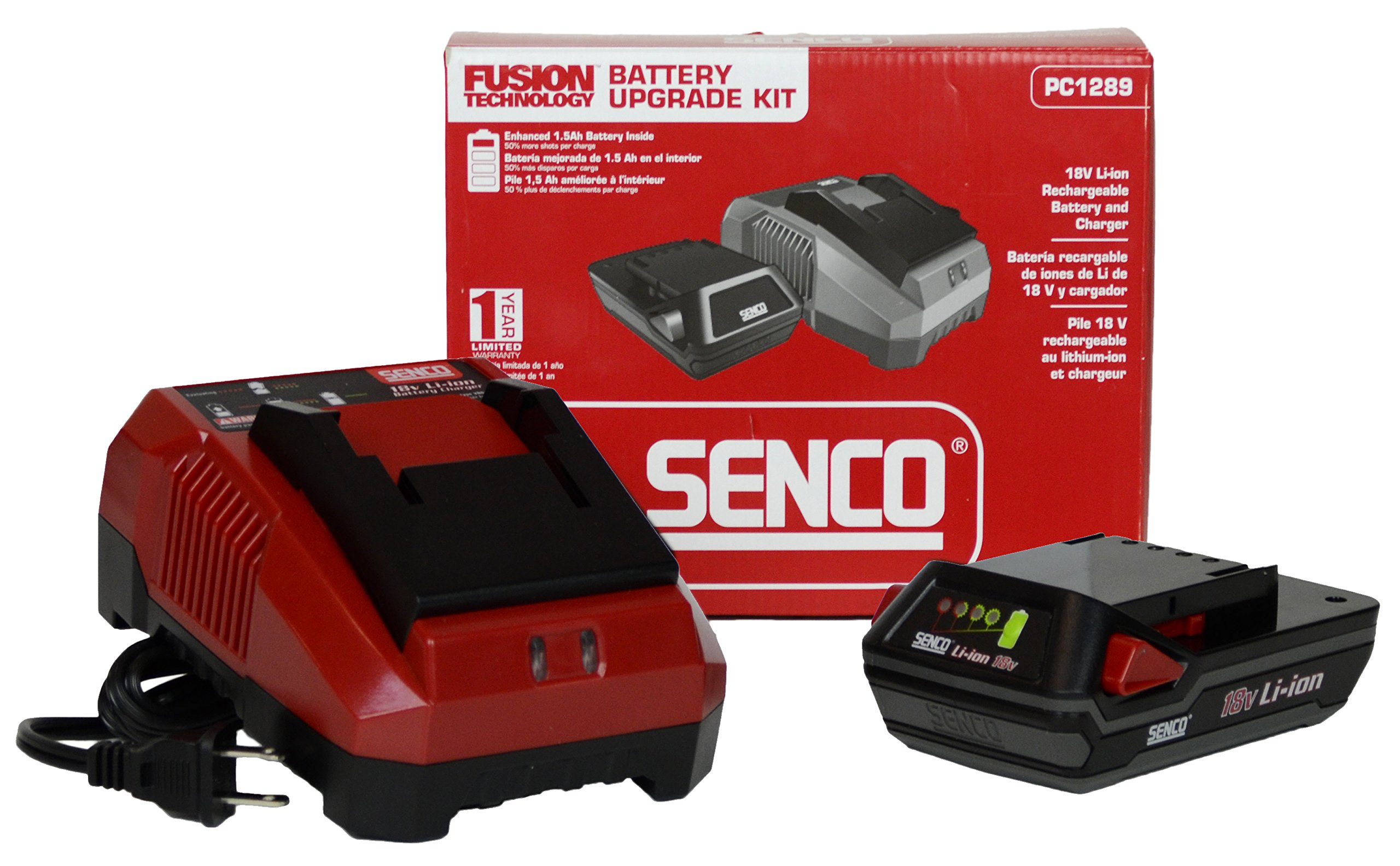 Senco Fusion PC1289 18v Li-Ion 1.5ah Battery and Charger Upgrade Kit