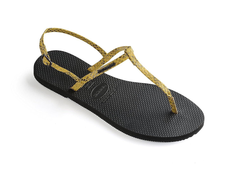 Havaianas Unisex Schuhe Damen und Herren, Riviera Croco, Sandalen mit Zehentrenner und Riemen Aus gemustertem Ouml;koleder  39 EU|Yellow