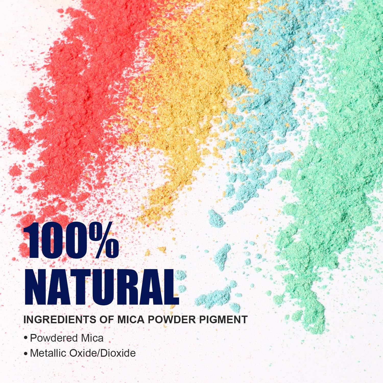MENNYO Epoxidharz Farbe, Seifenfarbe Set Pigment 30 Farben (10 g, insgesamt 300 g), Mica Pulver Glitter für Kunstharz Gießharz, Seife, Badebombe, Kerze, kosmetischer, Lidschatten, Nagellack, Schleim