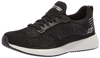 6ff47331c5cf Skechers BOBS Women's Bobs Squad-Metallic Fashion Sneaker, Black/Multi, ...