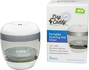 DryCaddy UV by Dry & Store | UV-C and Industry-Leading Desiccant to Keep Hearing Aids or Small Electronics Clean and Last Longer