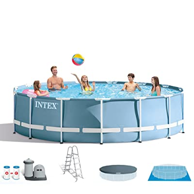 INTEX 18ft X 48in Prism Frame Pool Set with Filter Pump