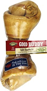 Castor & Pollux Good Buddy Made in USA Natural Chicken Flavor Rawhide Dog Bone Treats 6-7