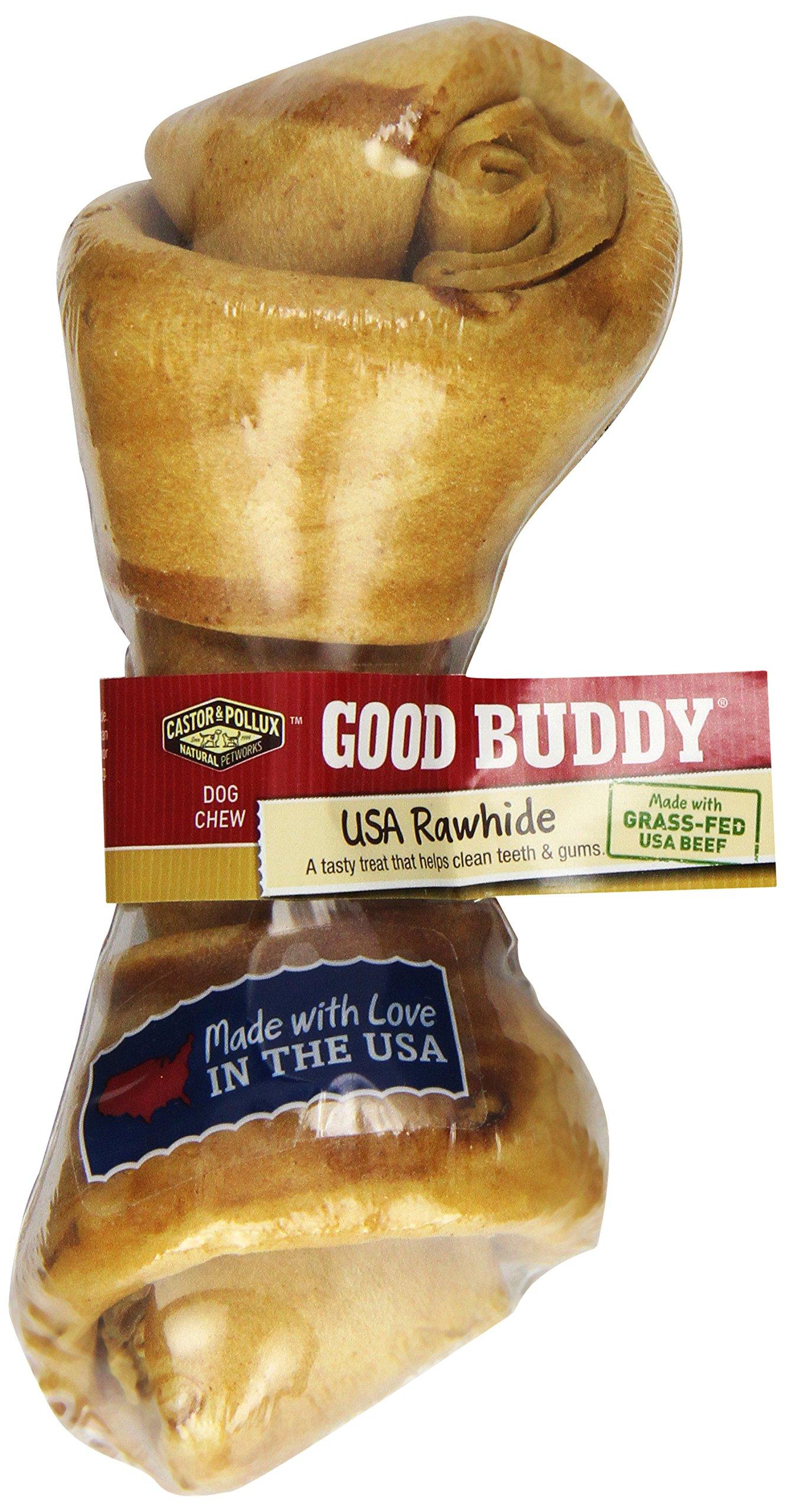 Castor & Pollux Good Buddy USA Rawhide Bone, One 6-7 Inch Bone (Pack of 12)