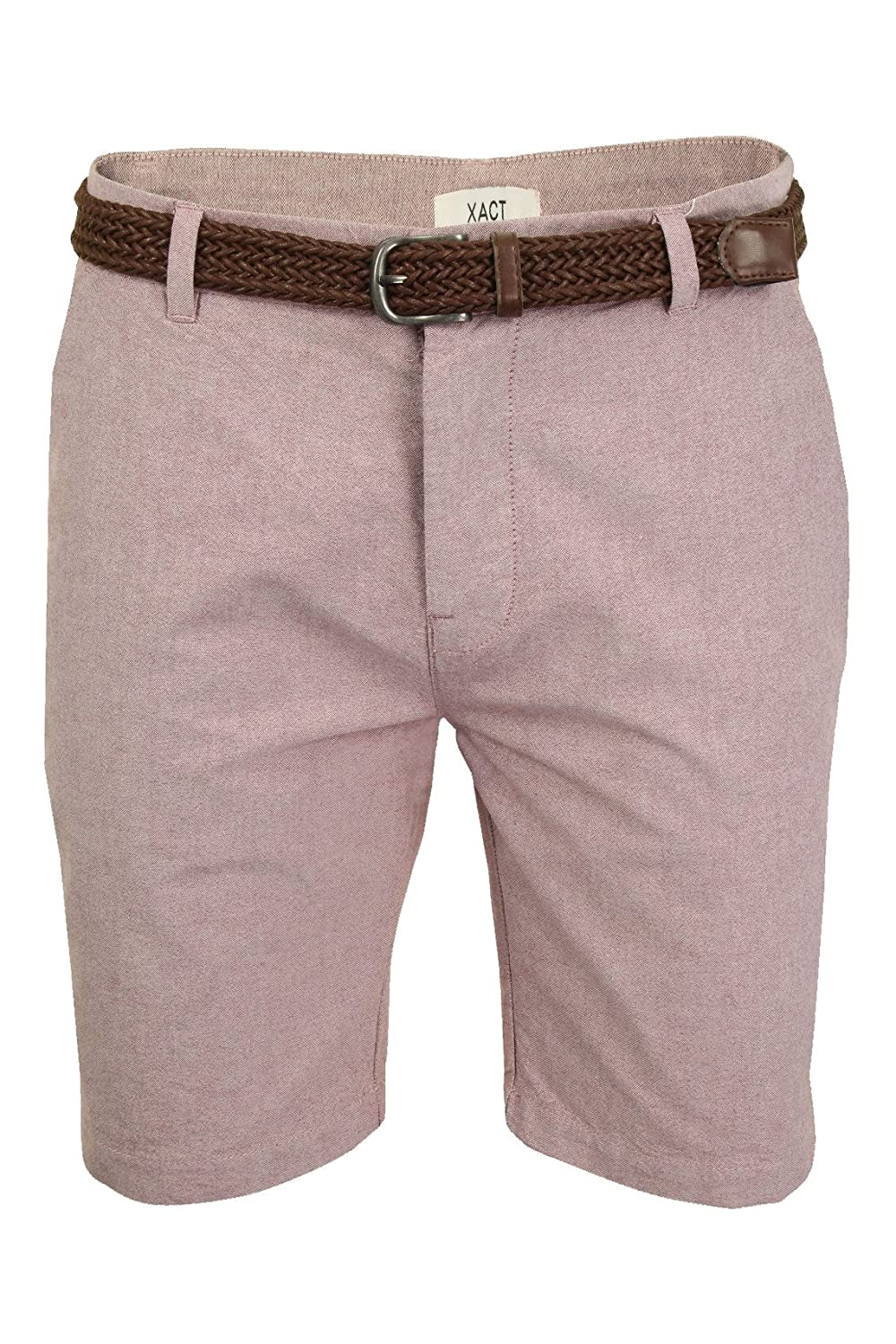 Xact Mens Oxford Chino Shorts Belt