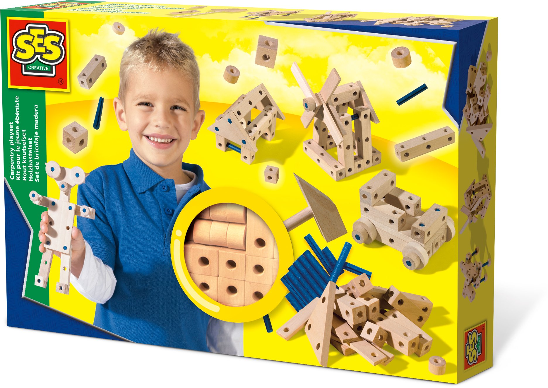 SES Creative Carpentry Wood Building Playset