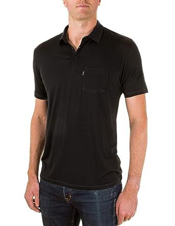 ffe98e2256 Woolly Clothing Men s Merino Wool Polo Shirt - Ultralight - Wicking  Breathable Anti-Odor S