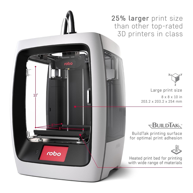 Robo 3D R2 - Imprimante 3D couleur à 2 têtes dimpression PLA/ABS ...
