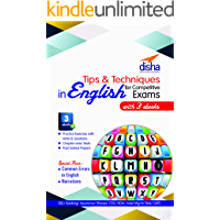 Tips & Techniques in English with 3 Ebooks for Competitive Exams