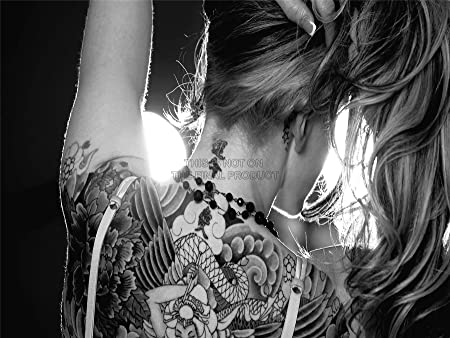 PHOTOGRAPHY COMPOSITION TATTOO MODEL POSE BLACK WHITE AFICHE ...